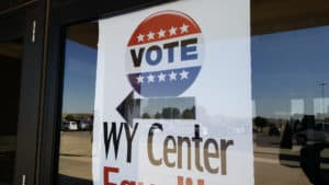 vote wy center poster