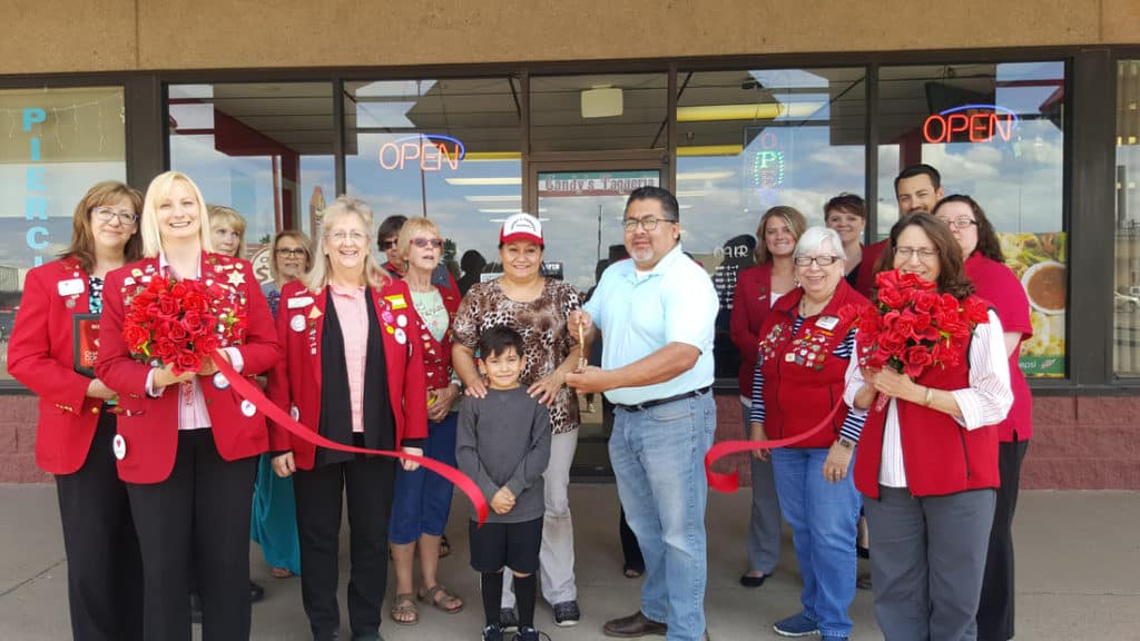 candys ribbon cutting