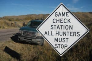 game check station sign