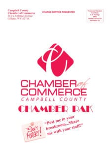 chamber pak envelope | campbell county chamber of commerce