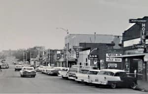 gillette main street black and white photo