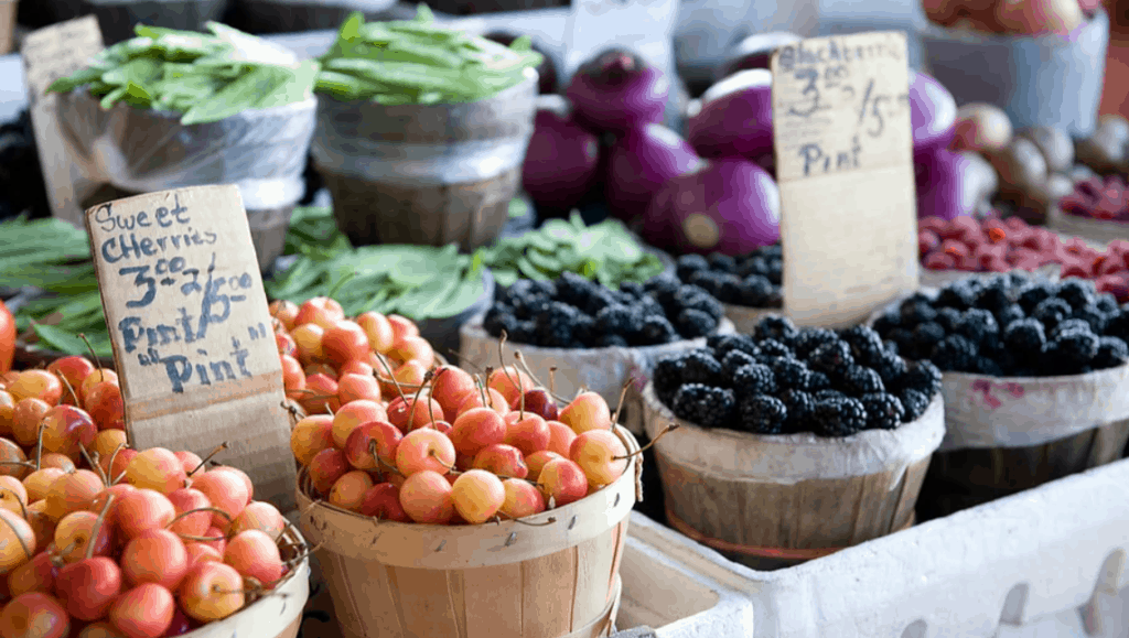 fruit and berries in baskets | campbell county chamber of commerce