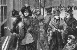 image of women from 18th century drawn