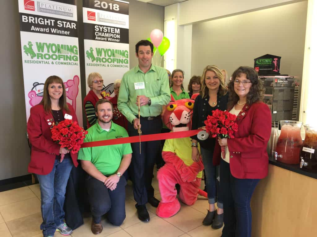 wyoming roofing ribbon cutting