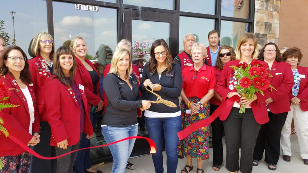 307 realty ribbon cutting