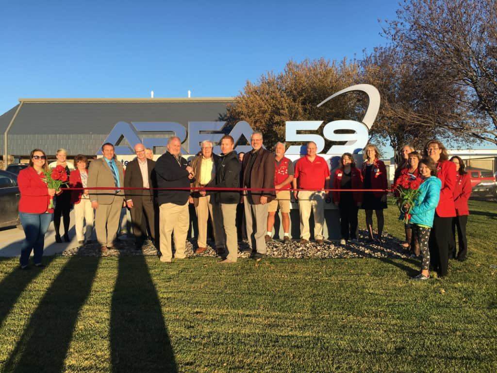 area 59 ribbon cutting