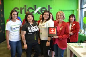 cricket wireless ribbon cutting