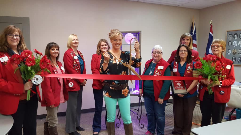 elegant kreations ribbon cutting