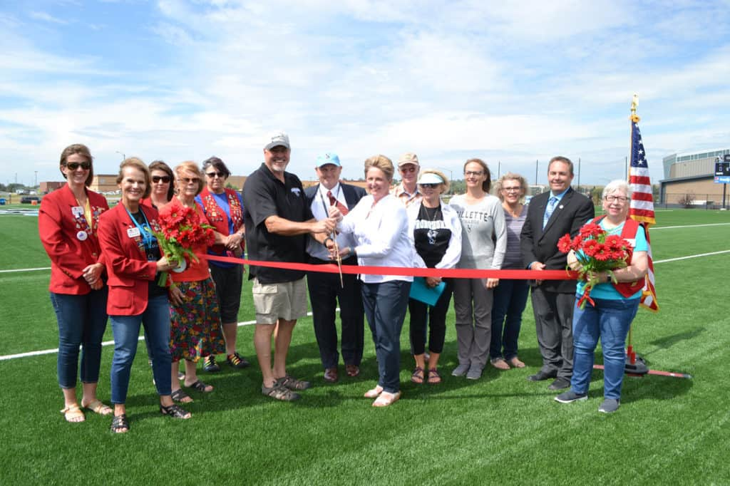 Gillette College Pronghorn Field Ribbon cutting