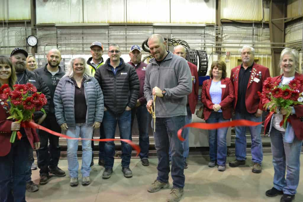 pacific steel and recycling ribbon cutting